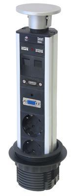 Sähköistystolppa 935-P2DC Axessline Popup