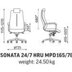 Sonata 24/7 valvomotuoli